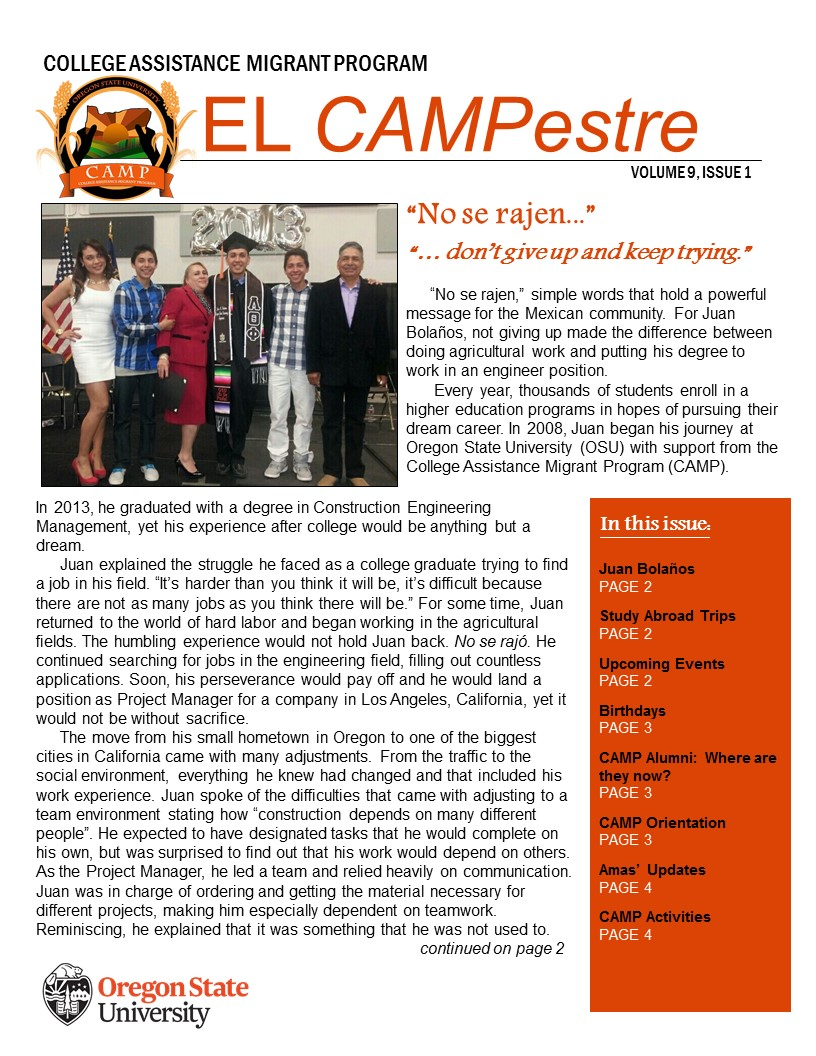 CAMPestre newsletter volume 8 issue 2